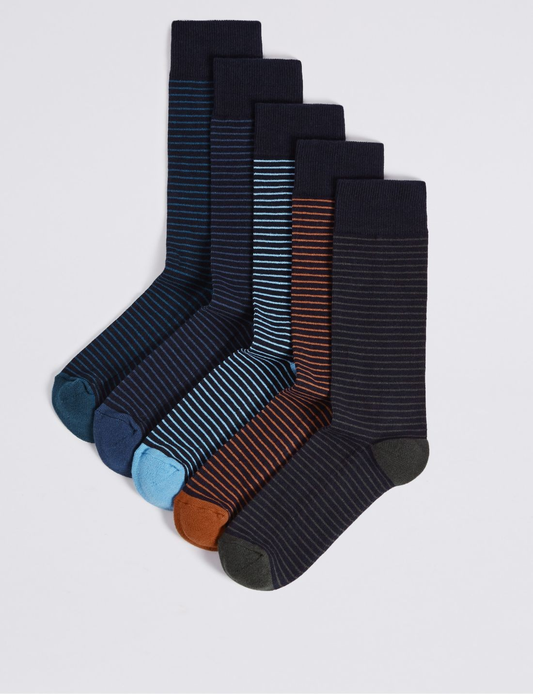 5'li Yumuşak Tabanlı  Çorap Seti (Cool & Freshfeet™ Teknolojisi ile)
