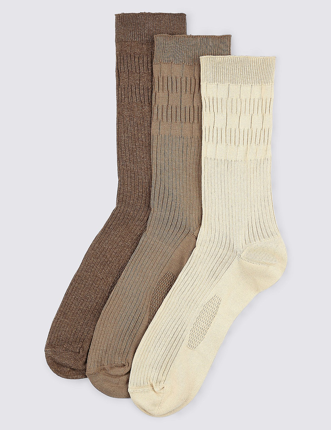 3'lü Şeritli Çorap Seti (Freshfeet™ Teknolojisi ile)