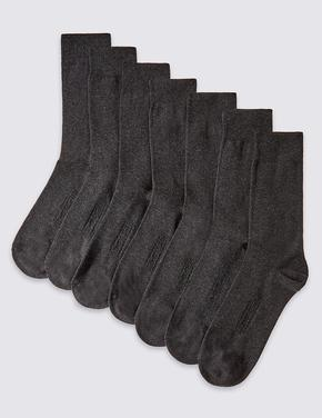 Gri 7'li Pamuklu Çorap Seti (Cool & Freshfeet™ Teknolojisi ile)