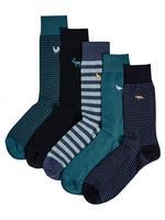5'li İşlemeli Çorap Seti (Cool & Freshfeet™ Teknolojisi ile)