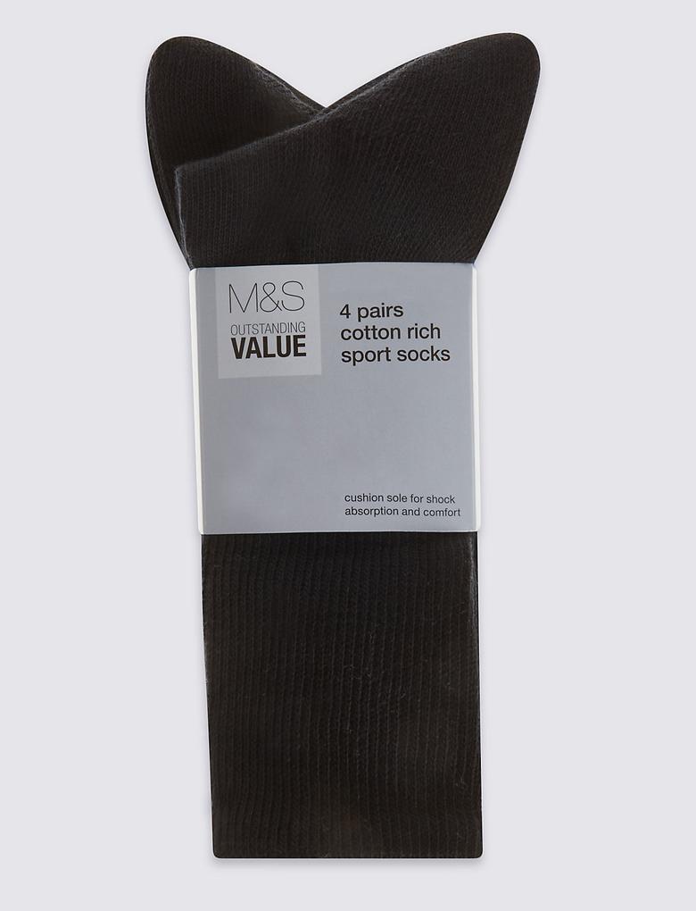 4'lü Pamuklu Çorap Seti