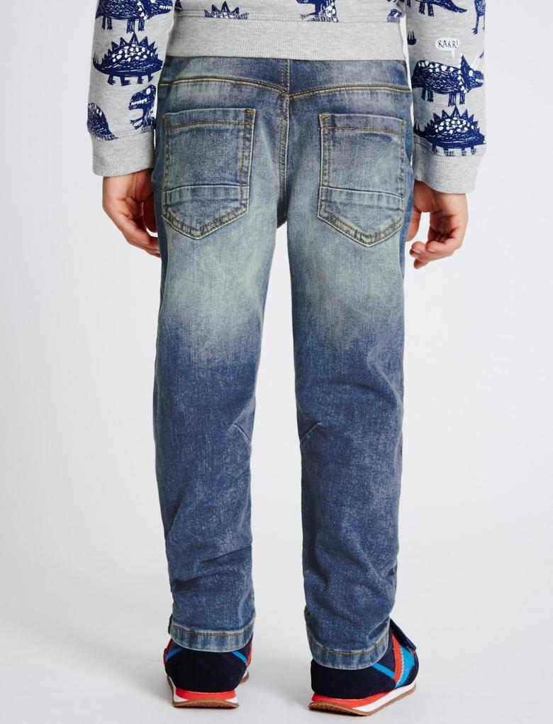 Pamuklu Esnek Denim Pantolon (3 Ay - 5 Yaş)