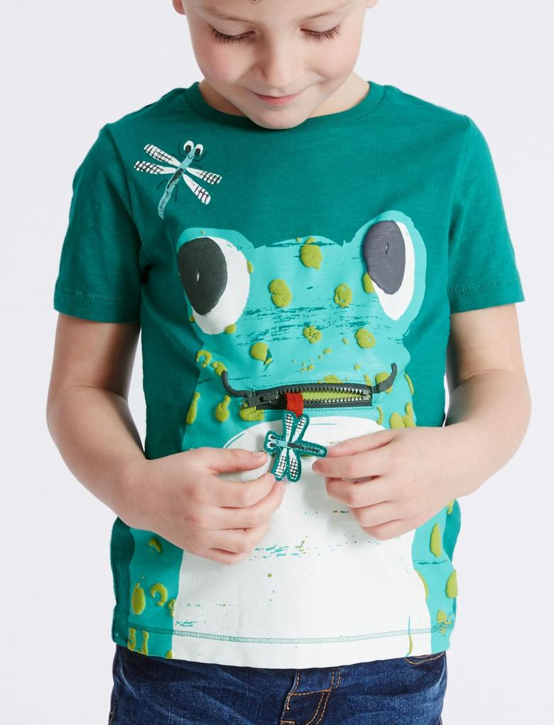 Pure Cotton Desenli T-Shirt (3 Ay - 5 Yaş)