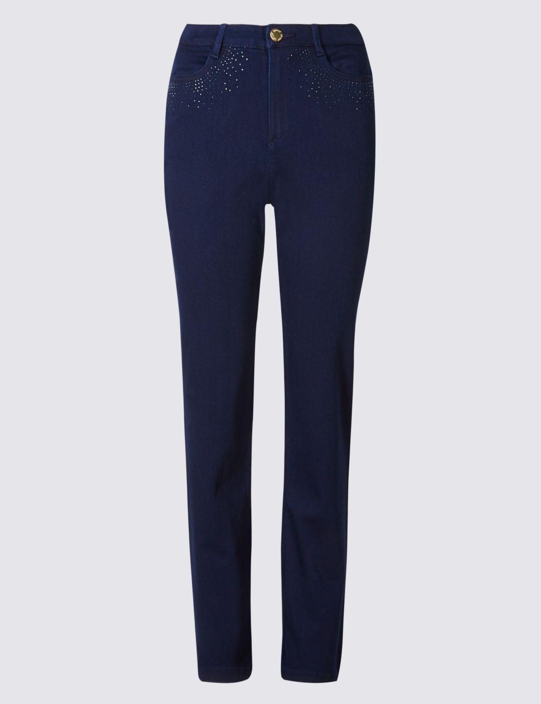 Straight Leg Jean Pantolon