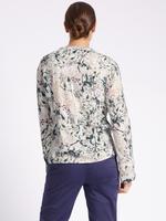 Çiçek Desenli Uzun Kollu Bluz