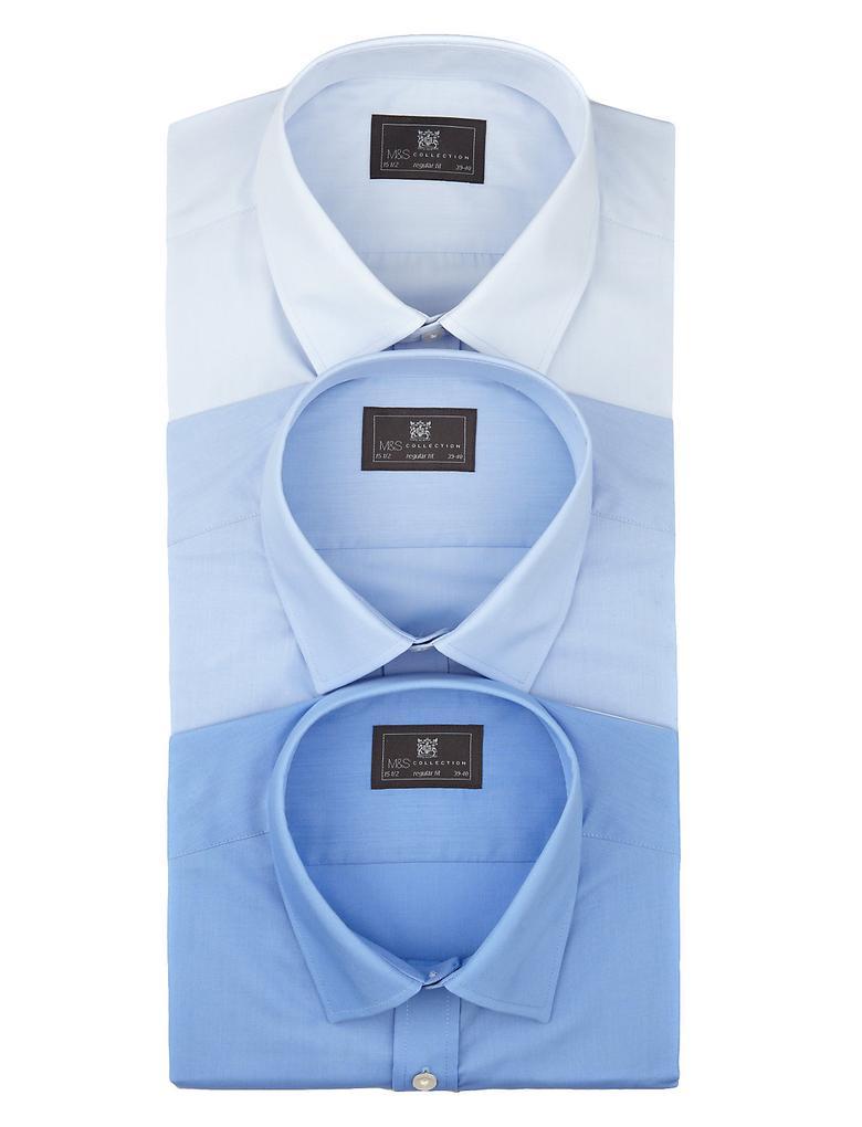 3'lü Kolay Ütülenebilir Cepli Gömlek