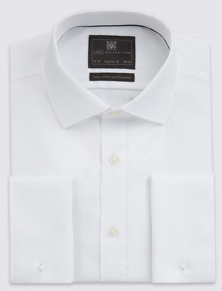 Saf Pamuklu Ütü Gerektirmeyen Gömlek