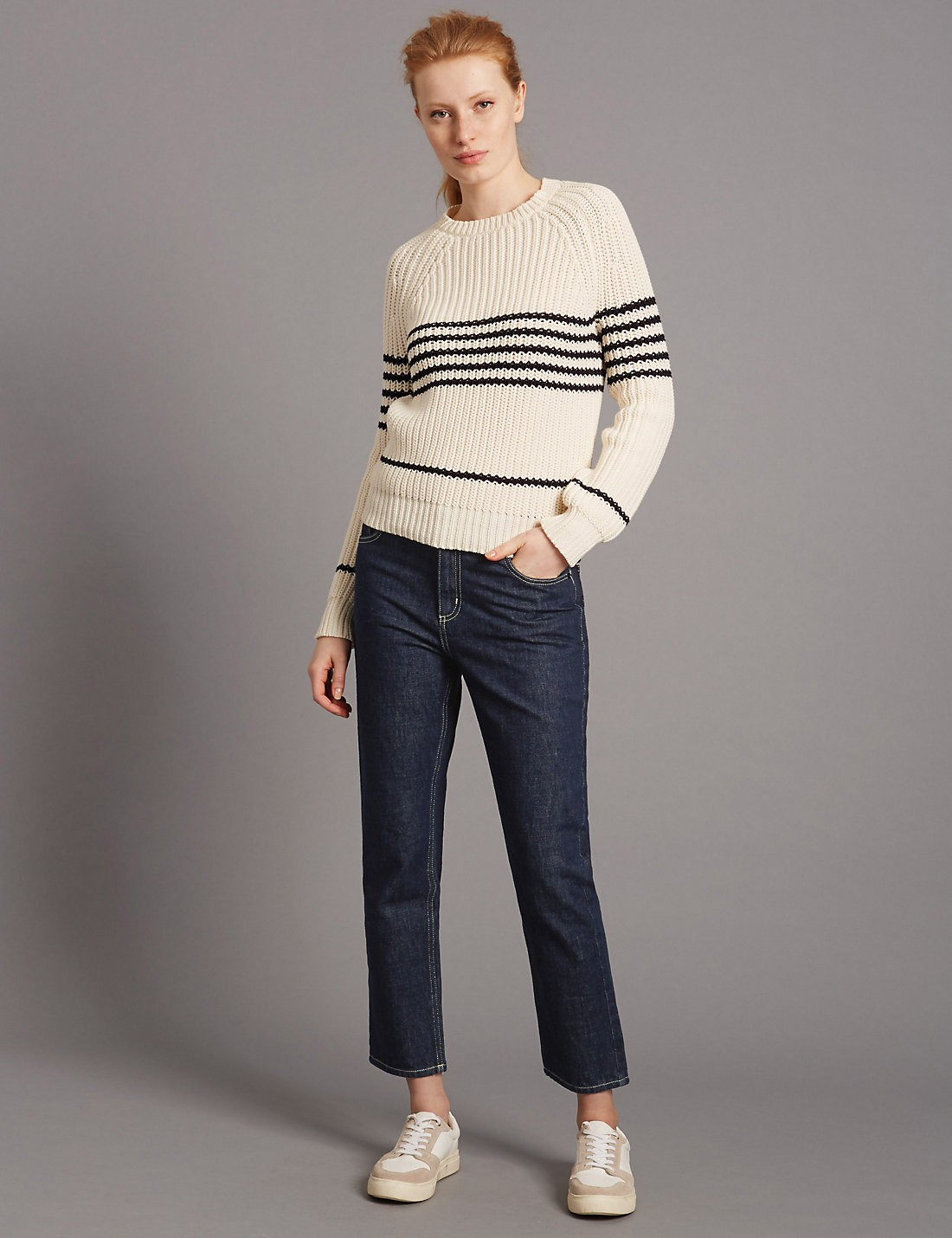 Straight Cropped Jean Pantolon