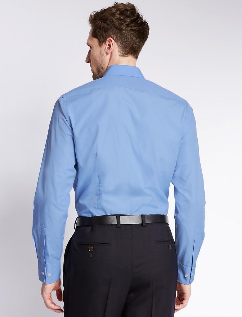 3'lü Cepli Slim Gömlek