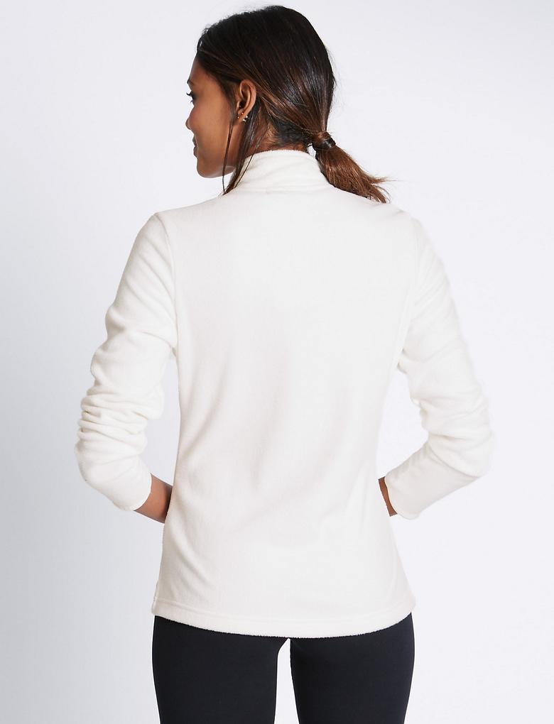 Fermuarlı Polar Sweatshirt