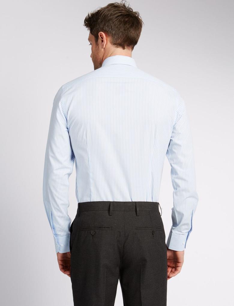 3'lü Paket Kolay Ütülenebilir Slim Gömlek