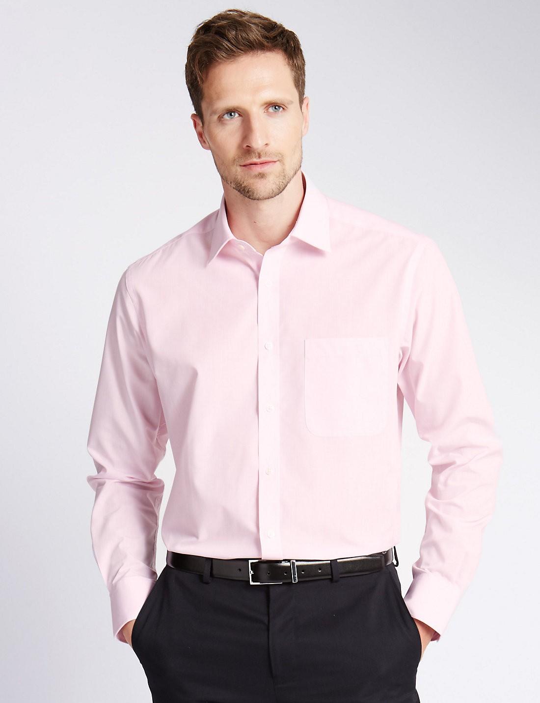 2'li Pamuk Karışımlı Kolay Ütülenebilir Gömlek