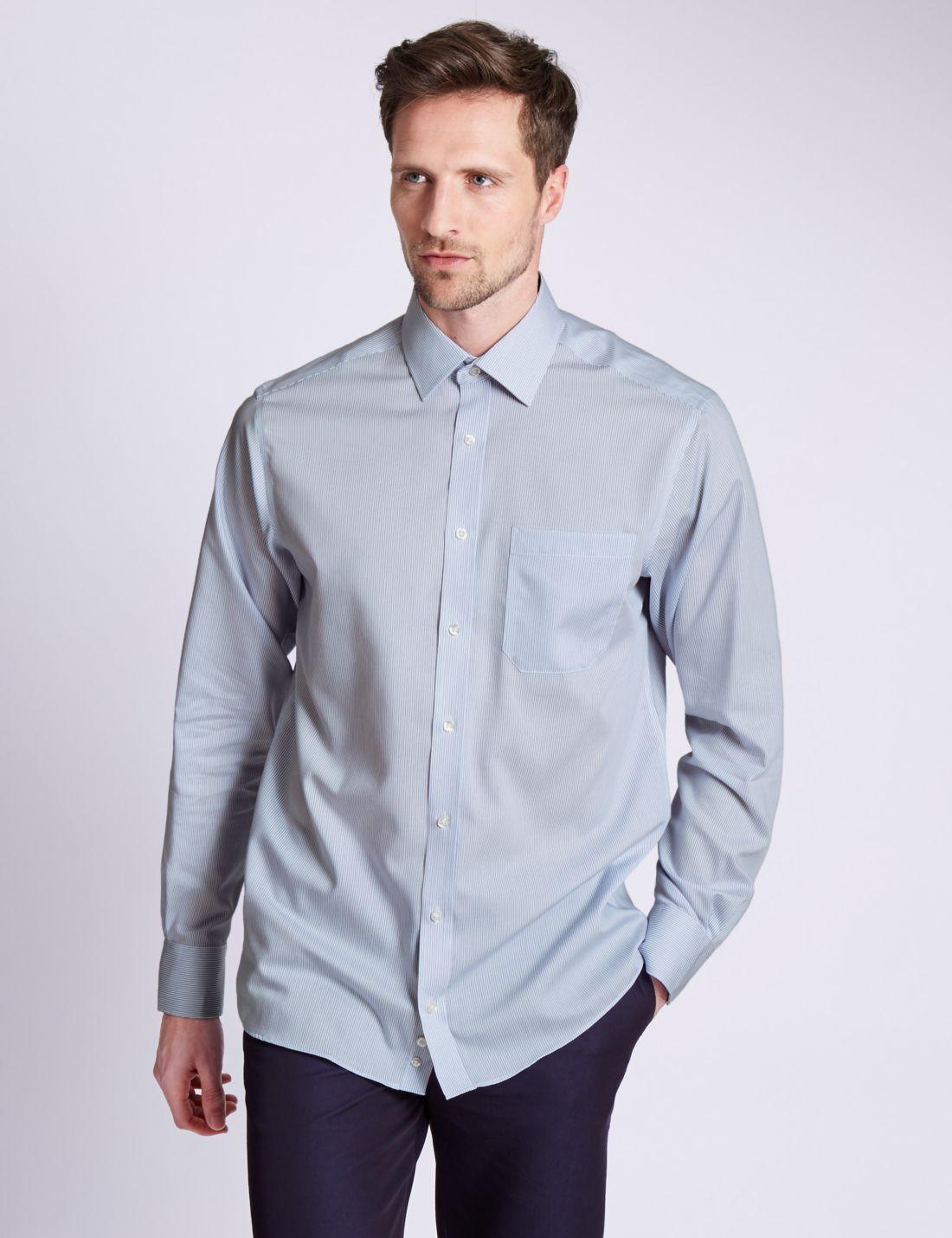Uzun Kollu Çizgili Gömlek