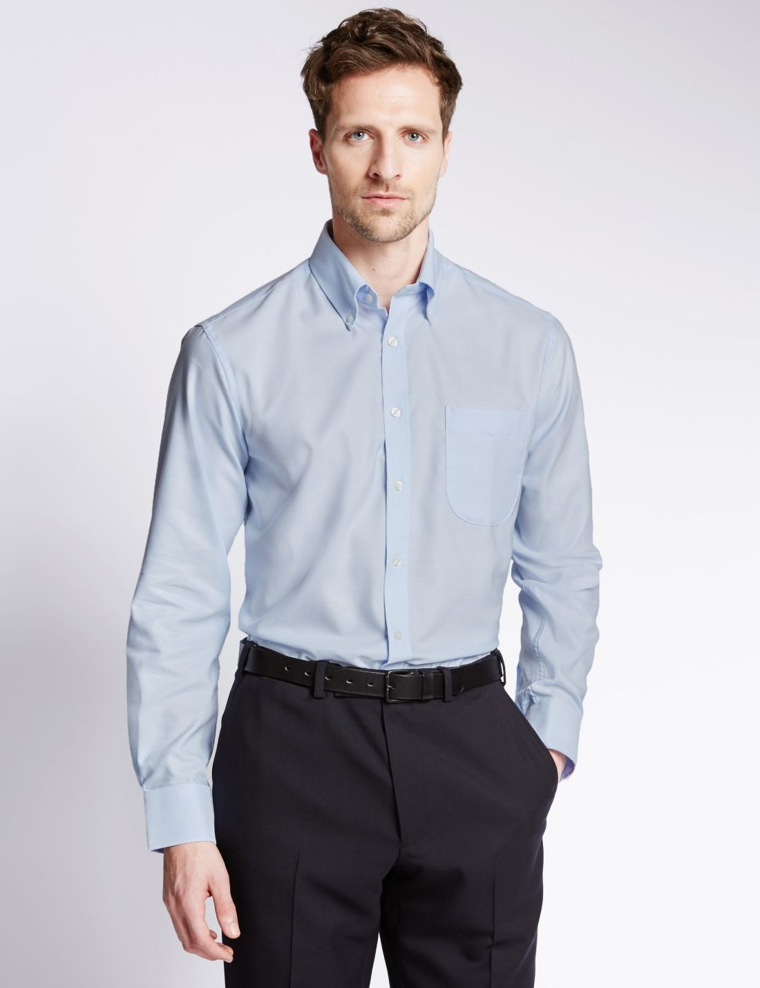 Pure Cotton Kolay Ütülenebilir Oxford Gömlek
