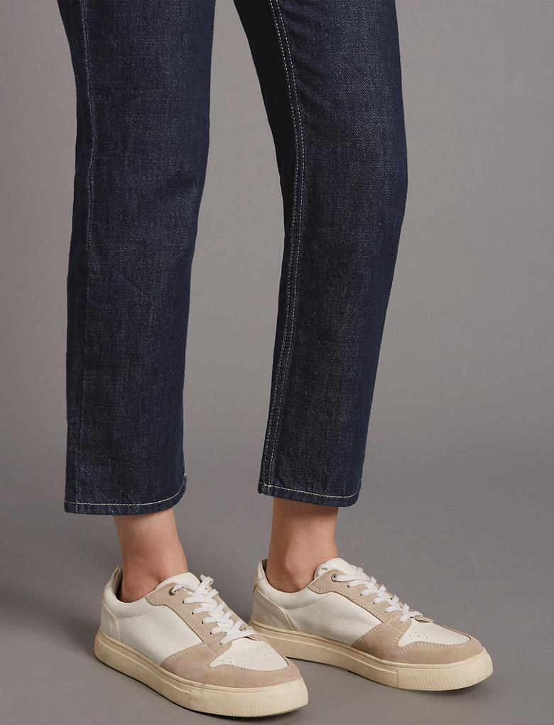 Straight Cropped Jean Pantolon