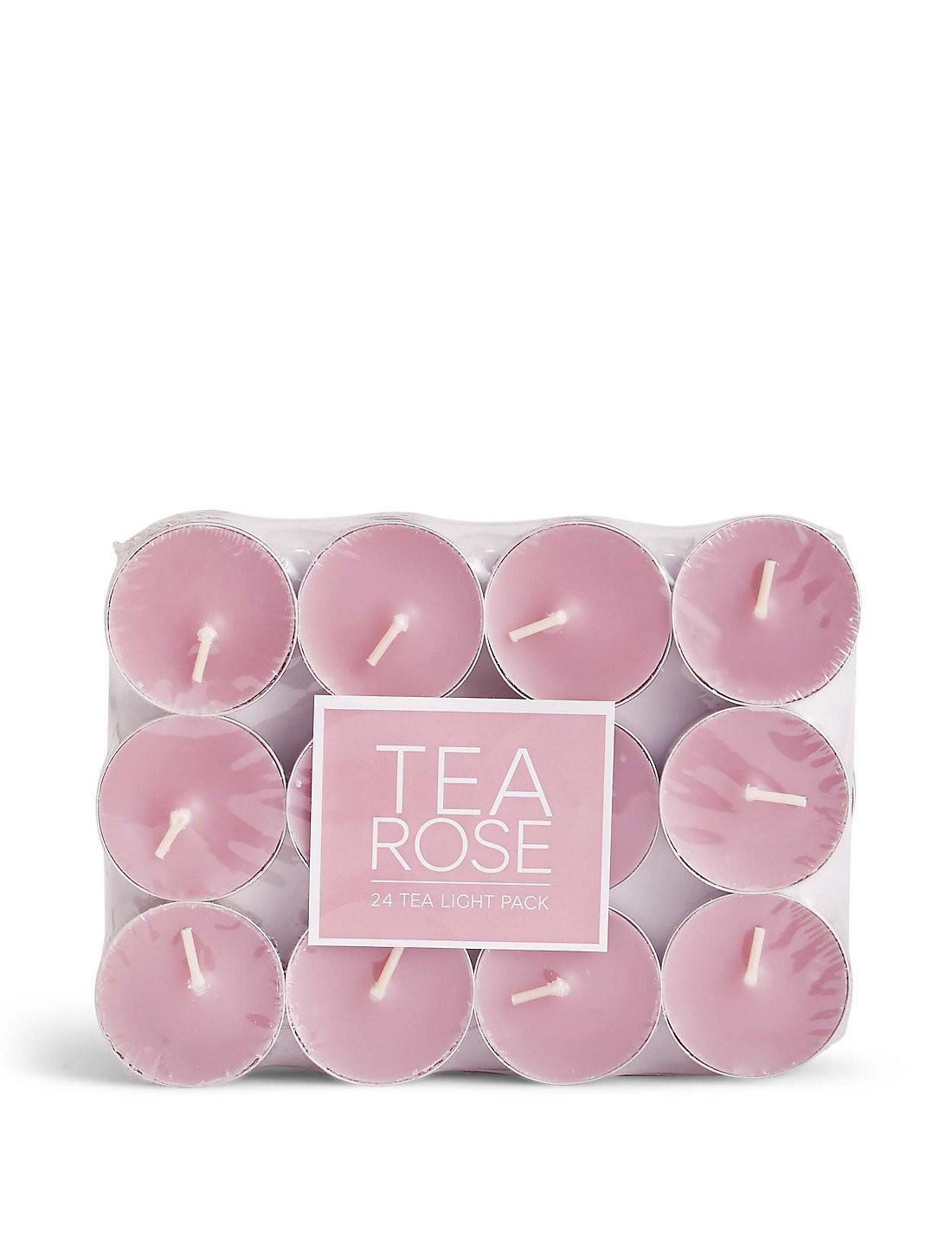 Tea Rose 24 Adet Küçük Mumlar