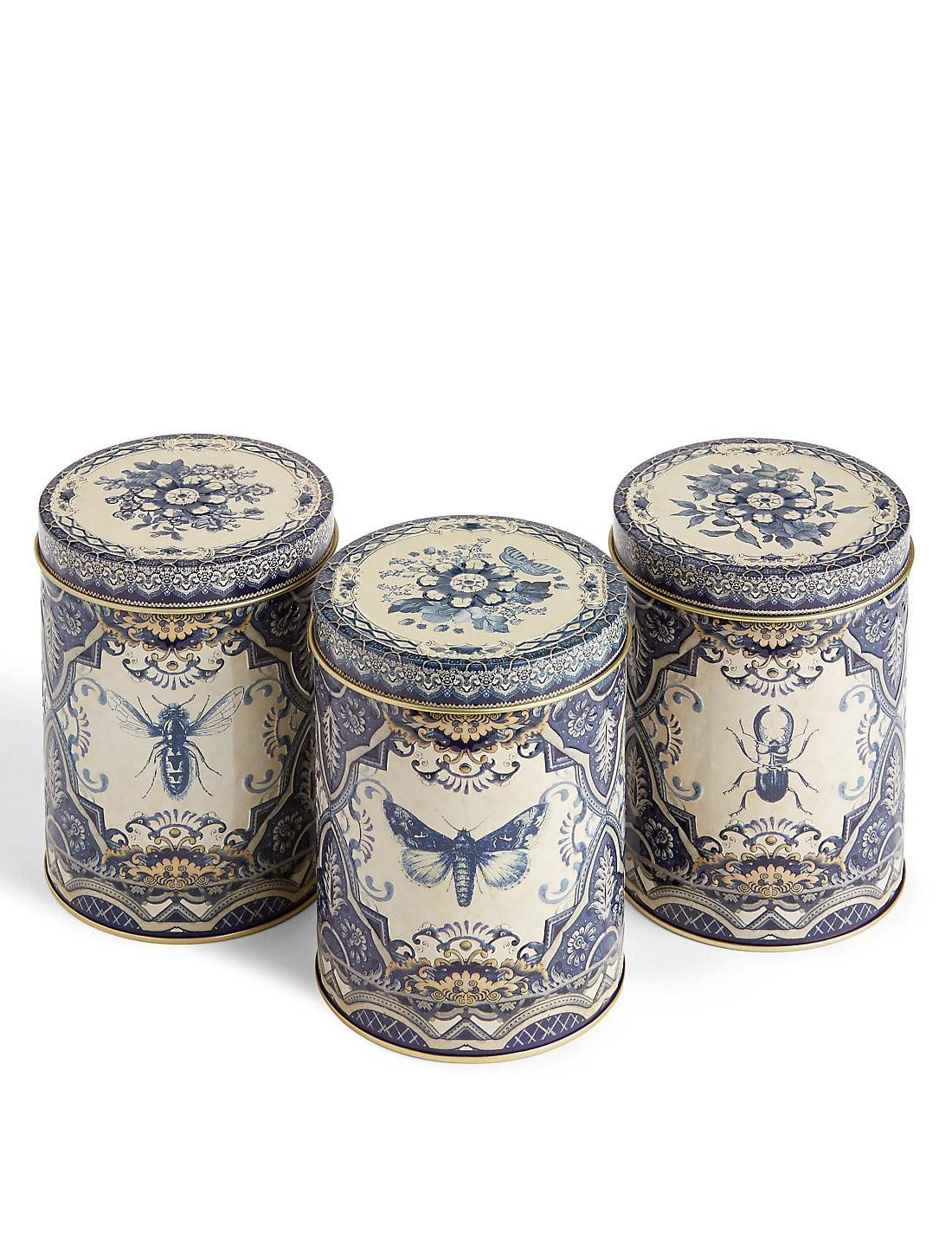 3'lü Güvercinli Çay, Şeker ve Kahve Saklama Kapları