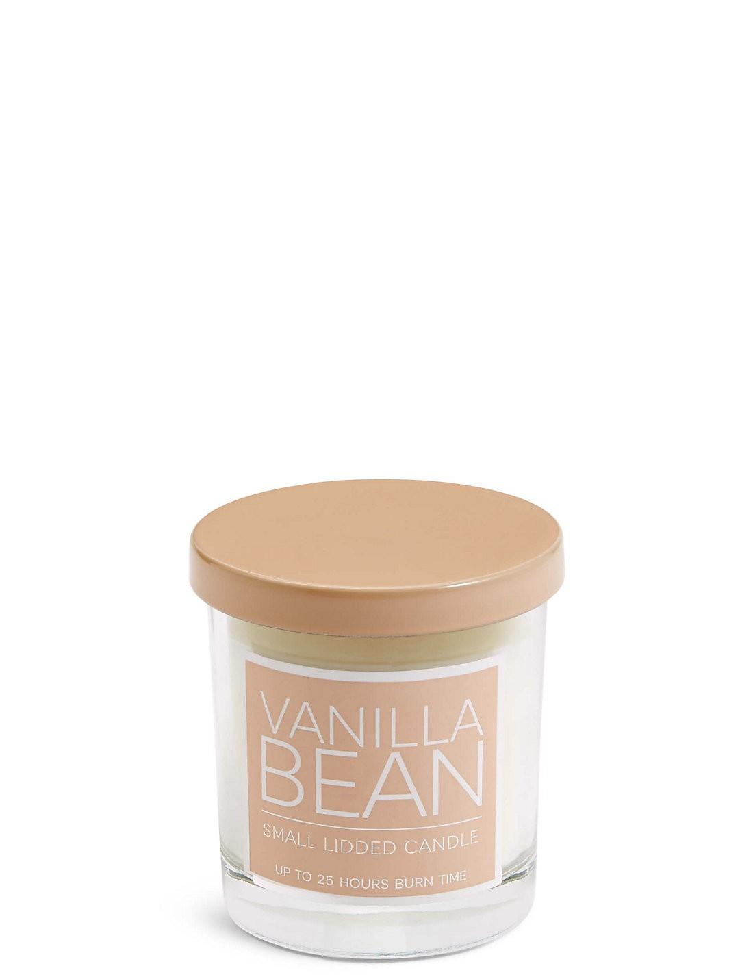 Vanilla Bean Kokulu Kapaklı Küçük Mum