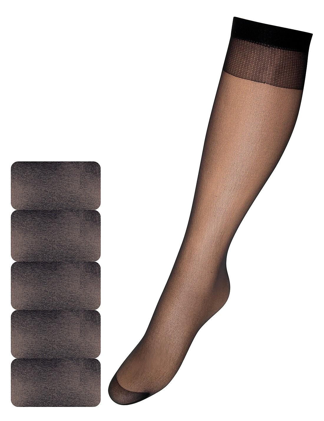 15 Denye Önemli Mat Diz Hizası Çorap 5 Çift Paketi
