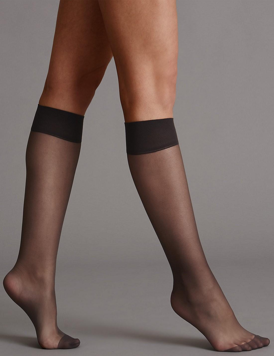 3'lü 10 Denye Kaçmaya Dayanıklı Mat Diz Altı Çorap
