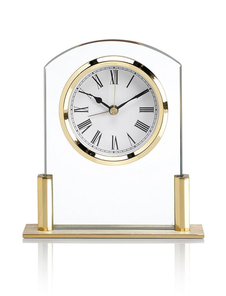 Alarmlı Mini Cam Şömine Saati