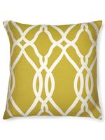 Kahverengi Büyük Geometrik Desenli Yastık