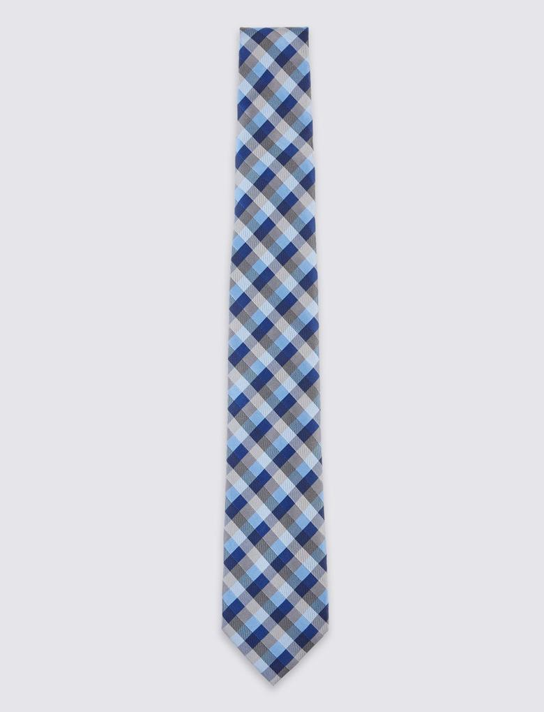 Dokumalı İpek Kravat