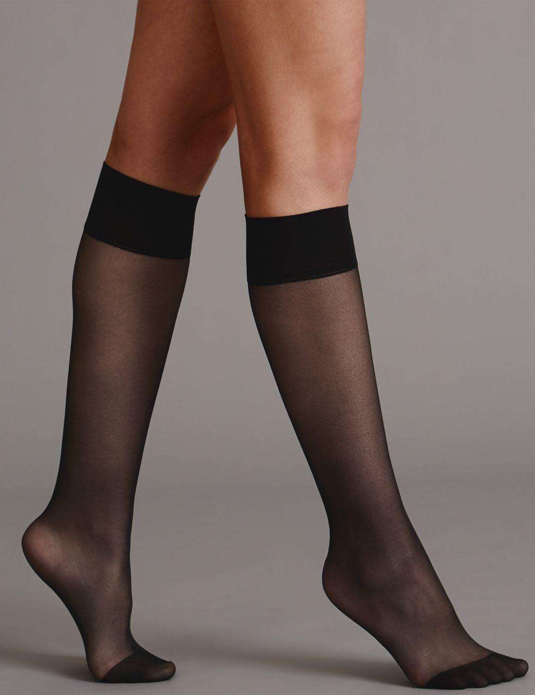 3'lü Kaçmaya Dayanıklı Mat Diz Altı Çorap