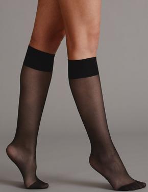 Siyah 3'lü Kaçmaya Dayanıklı Mat Diz Altı Çorap