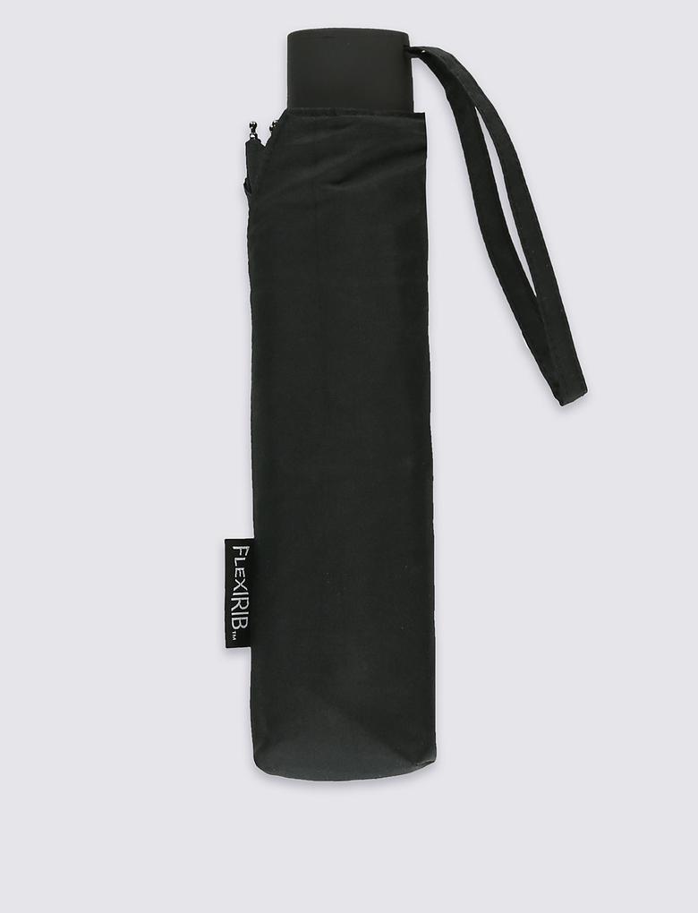 Erkek Siyah Kompakt Şemsiye (Windtech™ Teknolojsi ile)