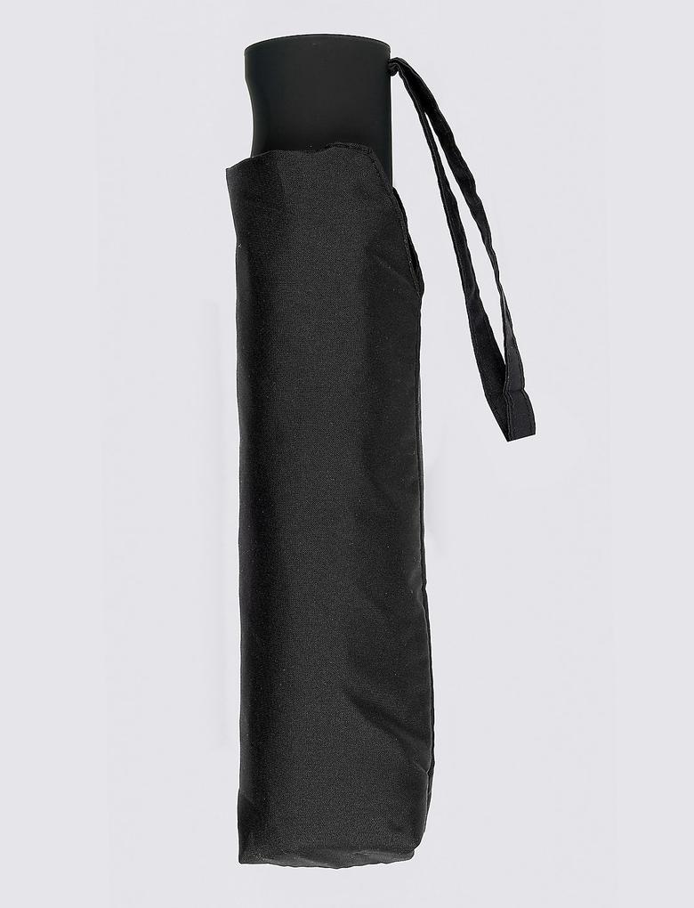 Siyah Kompakt Şemsiye (Windtech™ Teknolojsi ile)