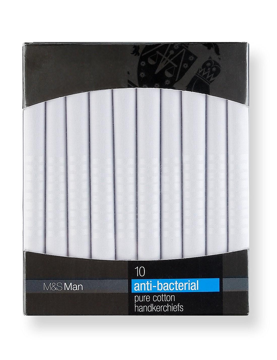 10'lu Pure Cotton Antibakteriyel Mendil Seti