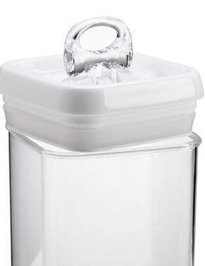 Beyaz Makarna Depolama Kavanozu