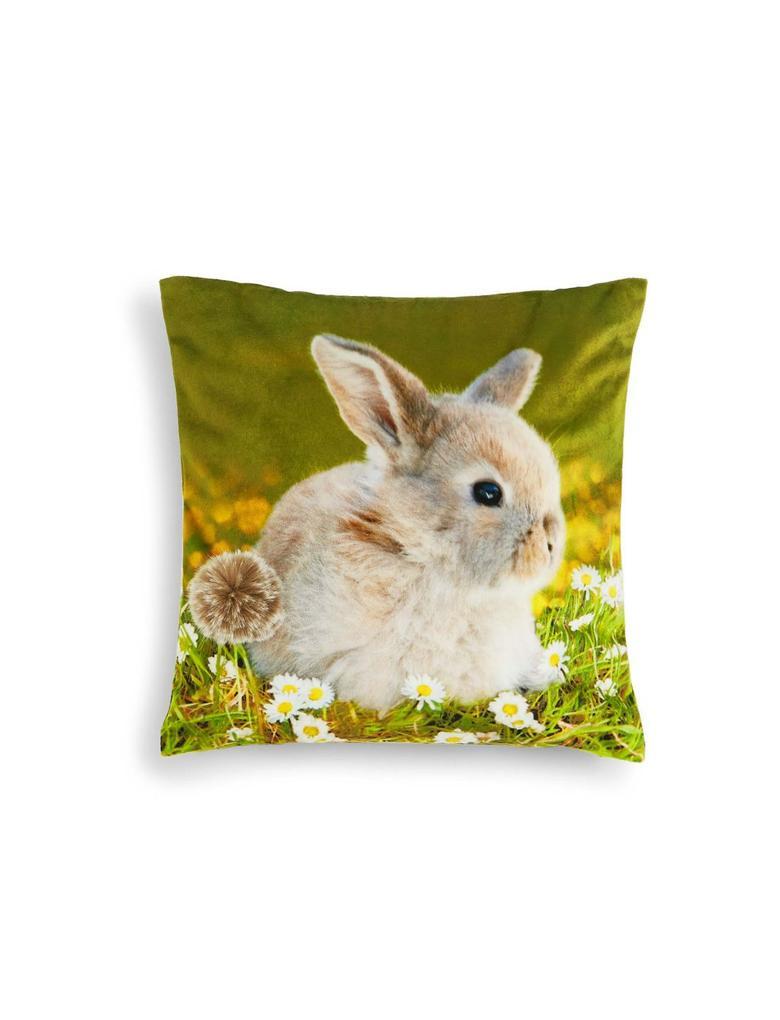 Multi Renk Tavşan Desenli Yastık