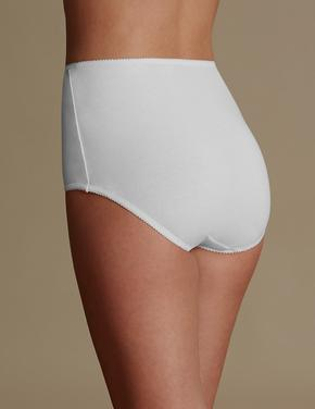 Kadın Beyaz 5'li Pamuklu Full Brief Külot (Yeni ve Geliştirilmiş Kumaş)