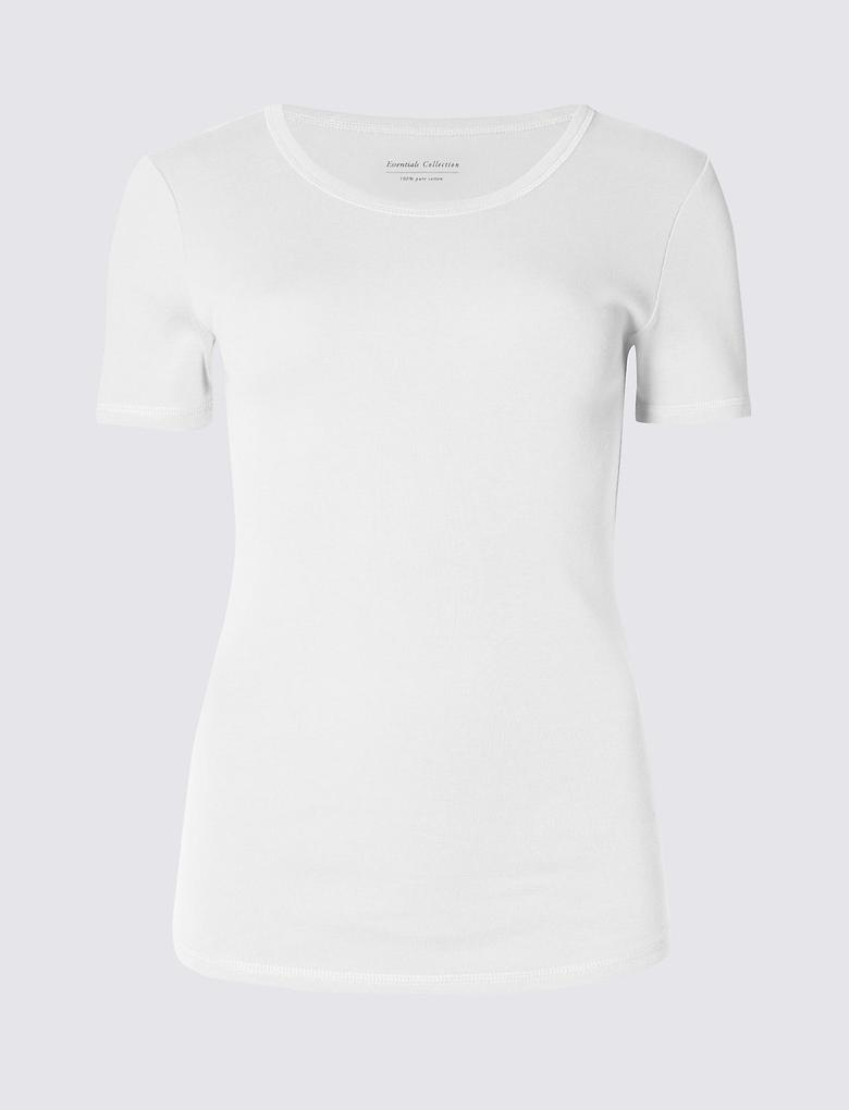 Pure Cotton Kısa Kollu T-Shirt