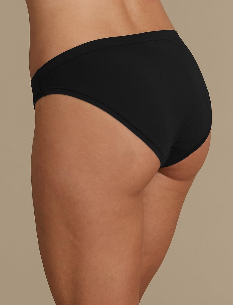 Kadın Siyah Modal Flexifit™ High Leg Külot