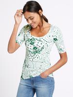Yeşil Desenli T-Shirt
