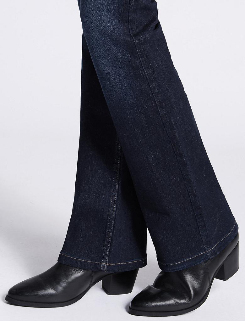 Orta Belli Bootleg Denim Pantolon