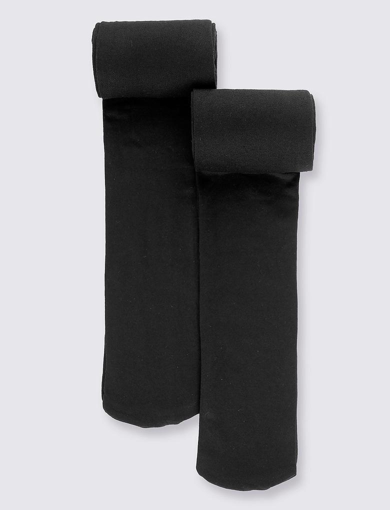 2'li Freshfeet™ Opak Okul Külotlu Çorabı (6 - 14 Yaş)