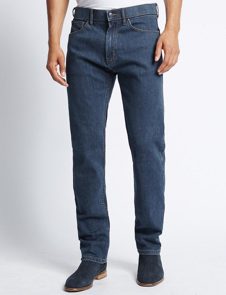 Tapered Leg Streç Jean Pantolon (Stormwear™ Teknolojisi ile)