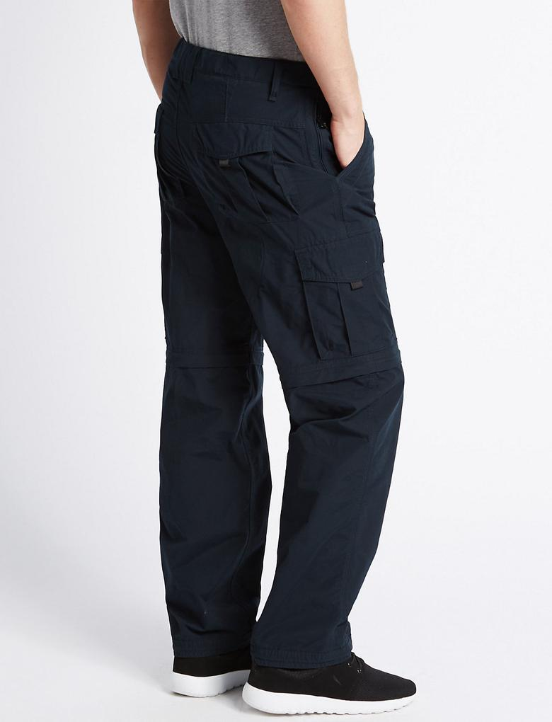 Lacivert Regular Fit Kemerli Yürüyüş Pantolonu