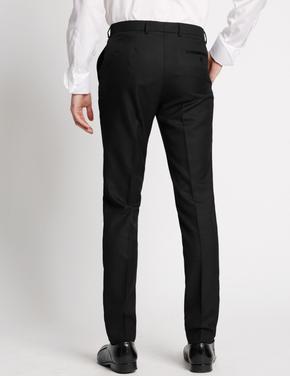Siyah Dokulu Modern Slim Pantolon