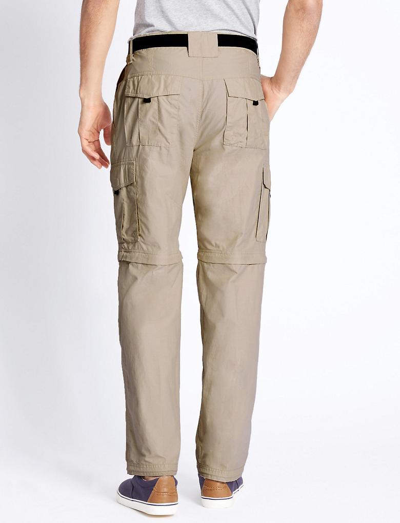 Regular Fit Kemerli Yürüyüş Pantolonu