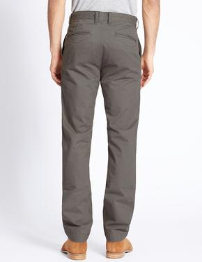 Straight Fit Kemerli Chino Pantolon