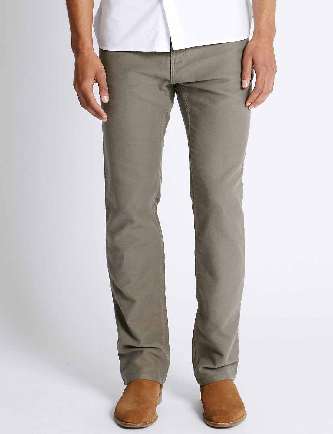 Pure Cotton Regular Fit Moleskin Pantolon