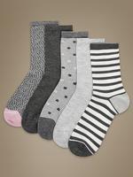 5'li Yumuşak Ayak Bileğine Kadar Çorap