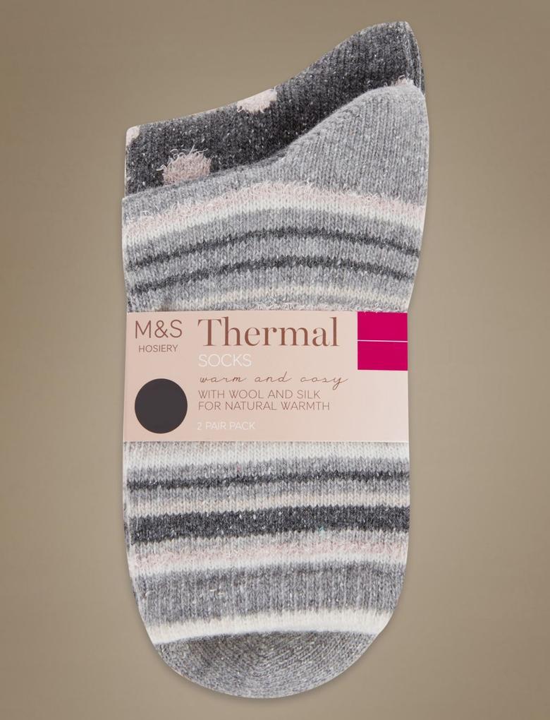Gri 2'li Termal Çorap (Silver Teknolojisi ile)