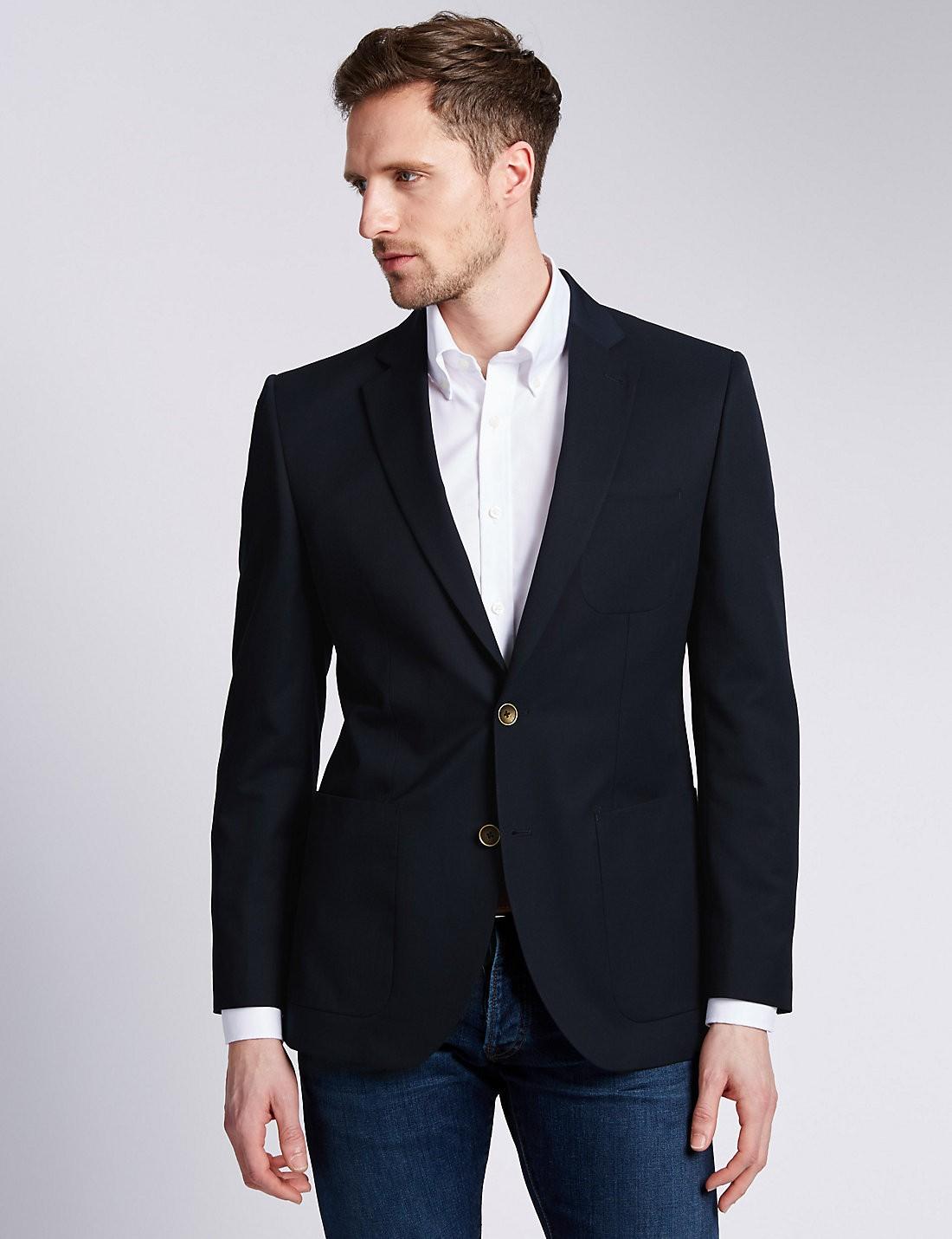 2 Düğmeli Çentik Yakalı Blazer Ceket