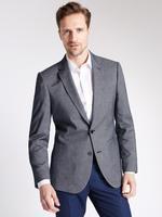 Mavi Dokulu Tailored Ceket